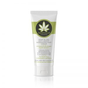 Hemp & CBD Anti-Sweat Deodorizing Foot Cream 75ml